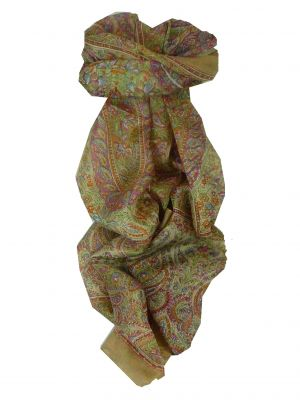 Mulberry Silk Traditional Long Scarf Daksha Caramel by Pashmina & Silk