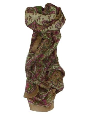 Mulberry Silk Traditional Long Scarf Chamelia Caramel by Pashmina & Silk