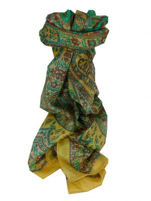 Mulberry Silk Traditional Long Scarf Chamelia Cream by Pashmina & Silk