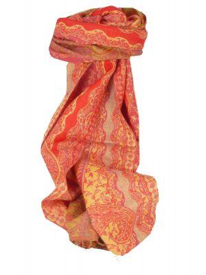 Muffler Scarf 9582 in Fine Pashmina Wool Heritage Range by Pashmina & Silk