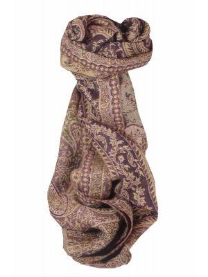 Muffler Scarf 9650 in Fine Pashmina Wool Heritage Range by Pashmina & Silk
