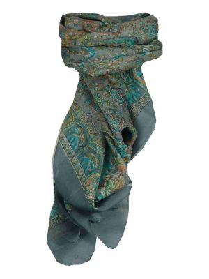 Mulberry Silk Traditional Square Scarf Donya Pearl by Pashmina & Silk