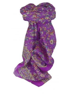 Mulberry Silk Traditional Square Scarf Ela Violet by Pashmina & Silk