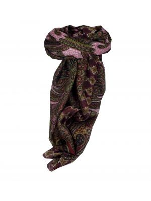 Mulberry Silk Traditional Square Scarf Bibi Wine by Pashmina & Silk