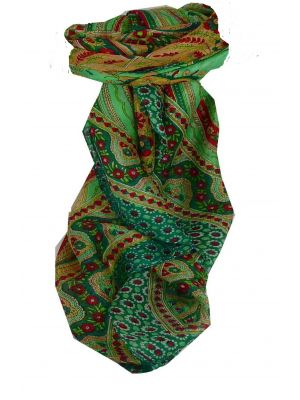 Mulberry Silk Traditional Square Scarf Ami Teal by Pashmina & Silk