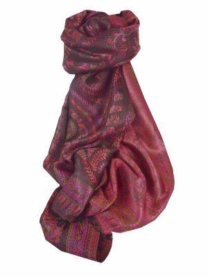 Mens Jamawar Premium Silk Scarf Pattern 2919 by Pashmina & Silk