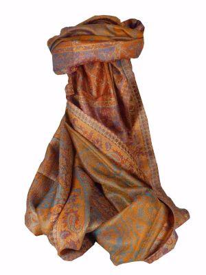 Mens Jamawar Premium Silk Scarf Pattern 3039 by Pashmina & Silk