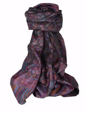 Mens Jamawar Premium Silk Scarf Pattern 3169 by Pashmina & Silk