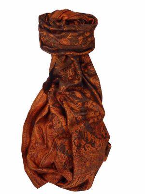Mens Jamawar Premium Silk Scarf Pattern 3749 by Pashmina & Silk