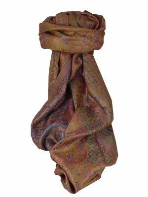 Mens Jamawar Premium Silk Scarf Pattern 3909 by Pashmina & Silk