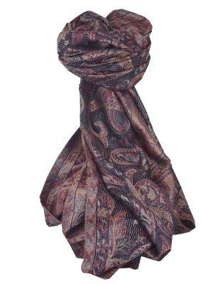 Jamawar Premium Silk Stole Pattern 3437 by Pashmina & Silk