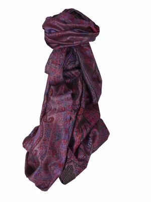 Mens Jamawar Premium Silk Scarf Pattern 5149 by Pashmina & Silk