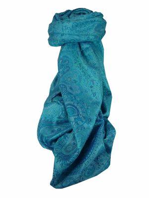 Mens Jamawar Premium Silk Scarf Pattern 6139 by Pashmina & Silk