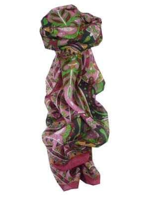 Mulberry Silk Traditional Long Scarf Sita Pink by Pashmina & Silk