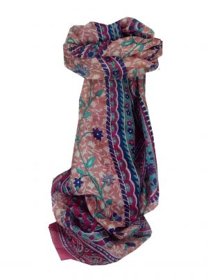 Mulberry Silk Traditional Long Scarf Sonja Fuchsia by Pashmina & Silk