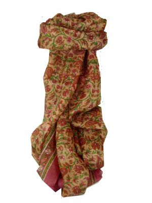 Mulberry Silk Traditional Long Scarf Zain Pink by Pashmina & Silk