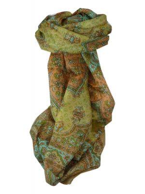 Mulberry Silk Traditional Long Scarf Zarine Caramel by Pashmina & Silk