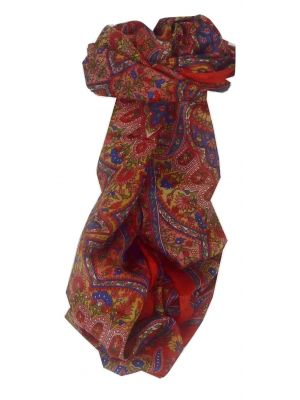 Mulberry Silk Traditional Long Scarf Rita Red by Pashmina & Silk
