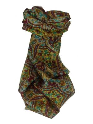 Mulberry Silk Traditional Long Scarf Rita Gold by Pashmina & Silk