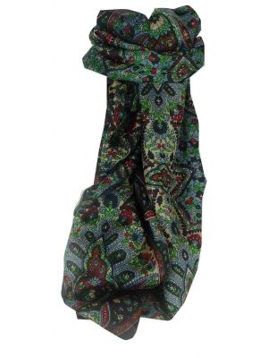 Mulberry Silk Traditional Long Scarf Rita Black by Pashmina & Silk