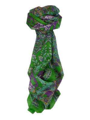 Mulberry Silk Traditional Long Scarf Nam Lime by Pashmina & Silk