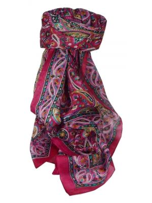 Mulberry Silk Traditional Long Scarf Palai Pink by Pashmina & Silk