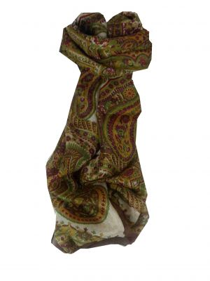 Mulberry Silk Traditional Long Scarf Mina Caramel by Pashmina & Silk