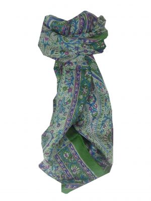 Mulberry Silk Traditional Long Scarf Malabar Sage by Pashmina & Silk