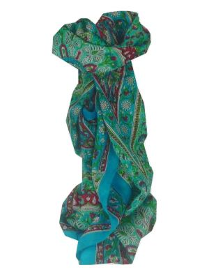 Mulberry Silk Traditional Long Scarf Malabar Sky by Pashmina & Silk