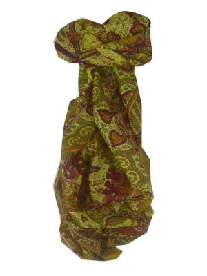 Mulberry Silk Traditional Long Scarf Maluji Caramel by Pashmina & Silk