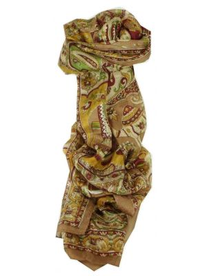Mulberry Silk Traditional Long Scarf Kir Chestnut by Pashmina & Silk