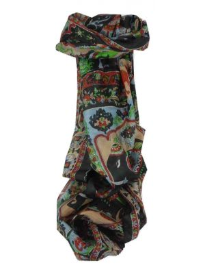 Mulberry Silk Traditional Long Scarf Kir Black by Pashmina & Silk