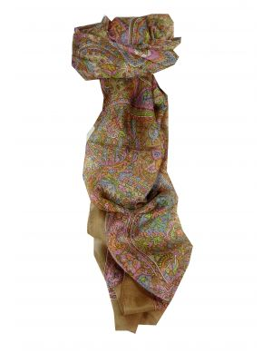 Mulberry Silk Traditional Long Scarf Joban Caramel by Pashmina & Silk