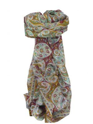 Mulberry Silk Traditional Long Scarf Hoogli Gold by Pashmina & Silk