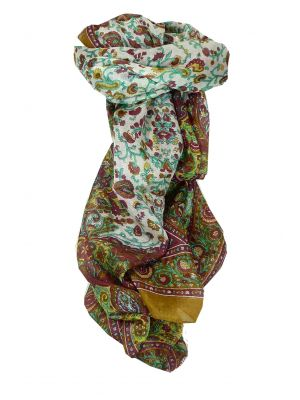 Mulberry Silk Traditional Long Scarf Tapti Caramel by Pashmina & Silk