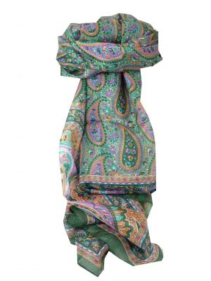 Mulberry Silk Traditional Long Scarf Koel Sage by Pashmina & Silk