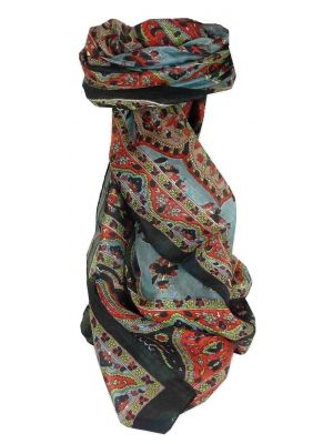 Mulberry Silk Traditional Long Scarf Kali Black by Pashmina & Silk
