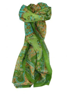 Mulberry Silk Traditional Long Scarf Kali Sage by Pashmina & Silk