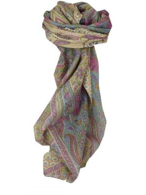 Mulberry Silk Traditional Square Scarf Uttara Caramel by Pashmina & Silk