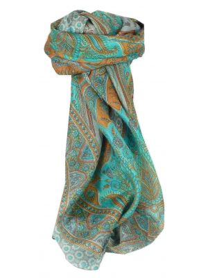 Mulberry Silk Traditional Square Scarf Uttara Quartz by Pashmina & Silk