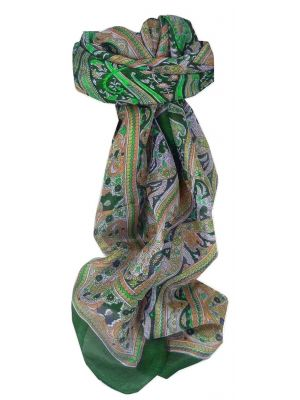 Mulberry Silk Traditional Square Scarf Penner Teal by Pashmina & Silk