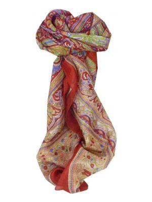 Mulberry Silk Traditional Square Scarf Penner Flame by Pashmina & Silk