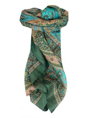 Mulberry Silk Traditional Square Scarf Vaan Sage by Pashmina & Silk