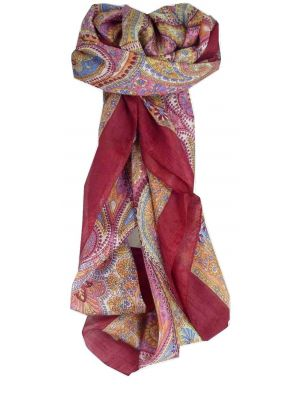 Mulberry Silk Traditional Square Scarf Zarak Rose by Pashmina & Silk