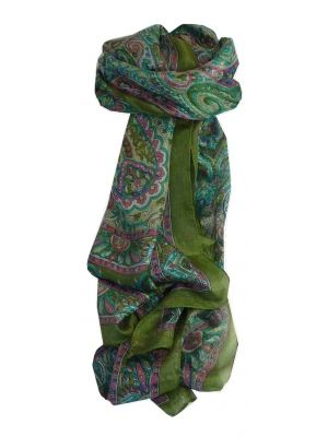 Mulberry Silk Traditional Long Scarf Anna Sage by Pashmina & Silk
