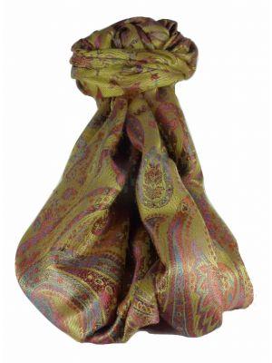 Mens Jamawar Premium Silk Scarf Pattern 7959 by Pashmina & Silk