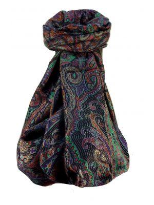 Mens Jamawar Premium Silk Scarf Pattern 8079 by Pashmina & Silk