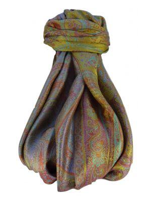 Mens Jamawar Premium Silk Scarf Pattern 9229 by Pashmina & Silk