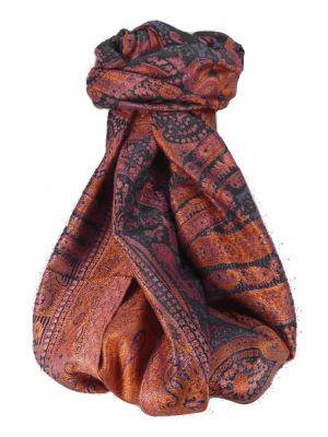 Mens Jamawar Premium Silk Scarf Pattern 9359 by Pashmina & Silk
