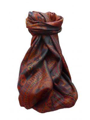 Mens Jamawar Premium Silk Scarf Pattern 9649 by Pashmina & Silk